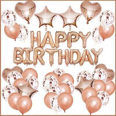 Balloon And Ribbons (Rose Gold Birthday Decorations Kit - Rose Gold Balloons、Rose Gold Ribbon and)