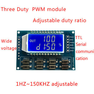 3 Way Signal Generator Pwm Pulse Frequency Duty Cycle Adjustable Module Lcd