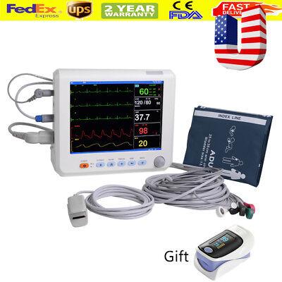 8in Vital Signs Patient Monitor 6 Parameters Spo2 Pr Nibp Ecg Resp Temp Usa