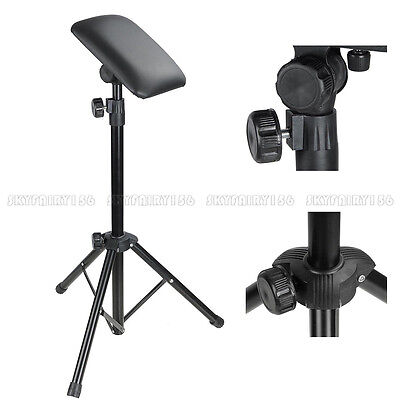 Height Adjustable Tattoo Tripod Stand Arm Leg Rest Stand Studio Chair Sponge Pad - Padded Height Adjustable Arms