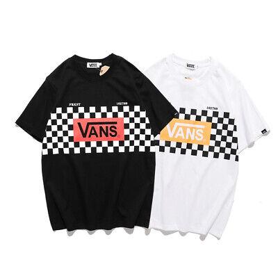 Vans Men's Women's Cotton Print New Crew Neck Short Sleeve Casual T-shirt