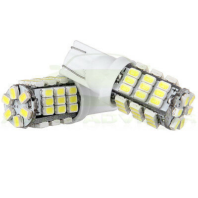 2x 6000K Xenon white License Plate light 42 SMD LED Miniature Bulbs T10 194 W5W