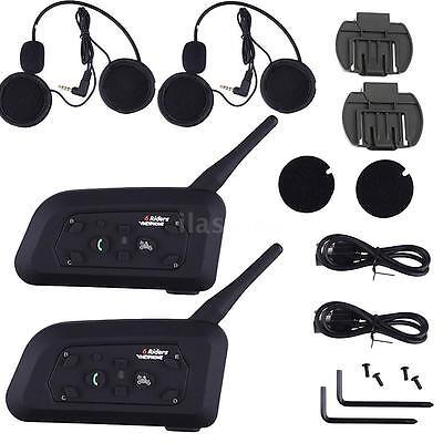 2 x 1200M BT Bluetooth Motorcycle Helmet Interphone Intercom Stereo Headset F2C8