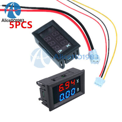 5pcs 0.28 Dual Led 100v 10a Ammeter Voltmeter Digital Display Amp Volt Meter