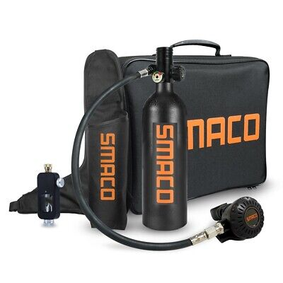 SMACO Mini Scuba Diving Kit 1L Oxygen Cylinder Tank Equipment Hand Air Pump