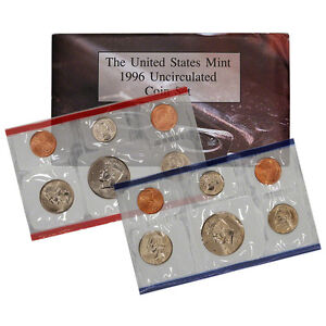 1996 United States Mint Uncirculated Coin Set (U96)
