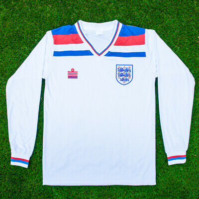 England 1982 World Cup Football Shirt | Retro | Home Shirt | White | Long Sleeve