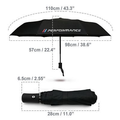 1 Fully-automatic umbrella in black with BMW M-Sport performance logo.