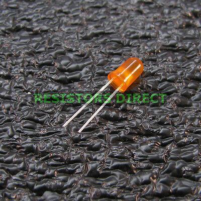 25pcs Round 5mm Orange T1-34 Led Diffused Lens Kit Ham Radio Us Seller 25x V12