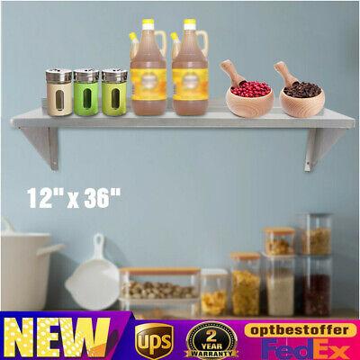 Kitchen Restaurant Wall Shelf Stainless Steel Wall Holder Storage Rack 12 X 36