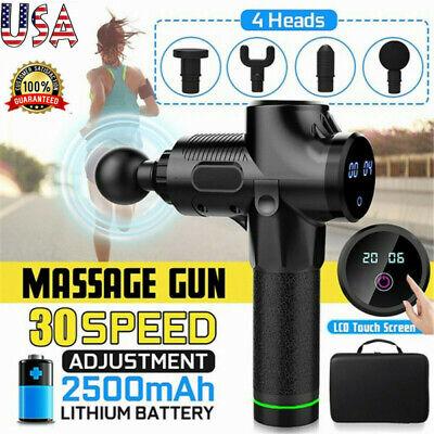 30 Speeds Massage Gun Percussion Massager Deep Tissue Muscle Vibrating Relaxing