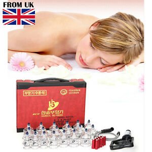 Hansol 19 Cups Cupping Set Slimming Massage Vacuum Therapy Pump Acupuncture