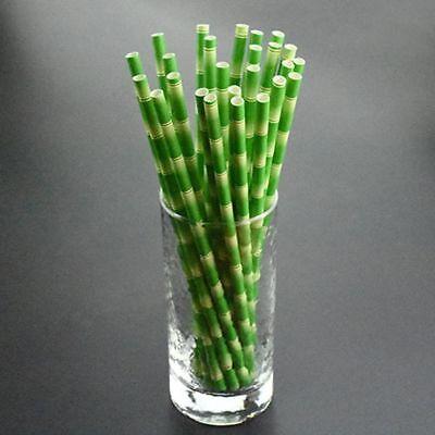 High Quality Cute 25pcs Jungle Birthday Paper Party Bamboo Panda - Cute Straws