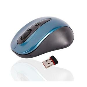 2.4G Wireless Optical Mouse/Mice Blue + Mini USB Receiver for PC Laptop/Notebook