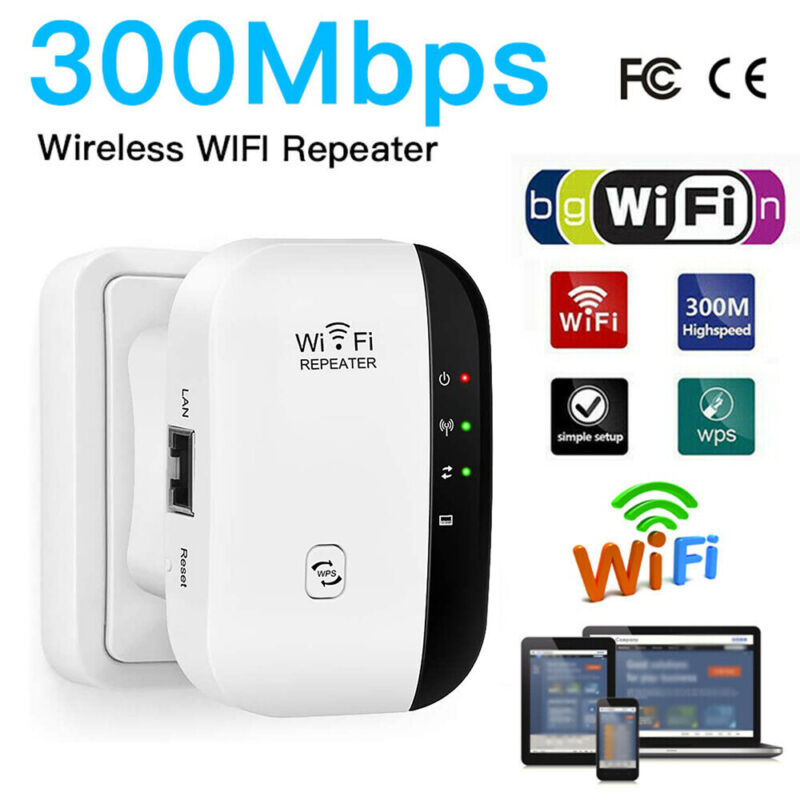 300Mbps WiFi Blast Wireless Repeater Range Extender WifiBlast Home Amplifier US