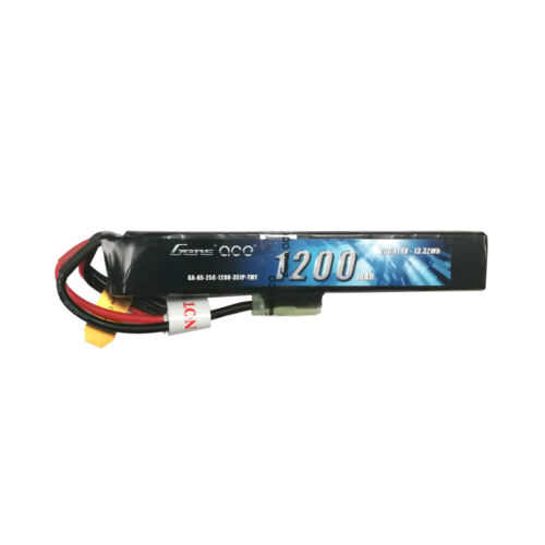 Two Gens ace 1200mAh 3S 11.1V 25C Battery For Airsoft Gun Mo