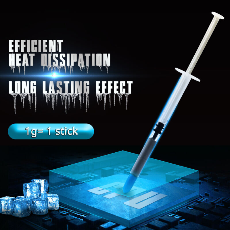High Performance Gray Thermal Grease CPU Heatsink Compound Paste Syringe 1g