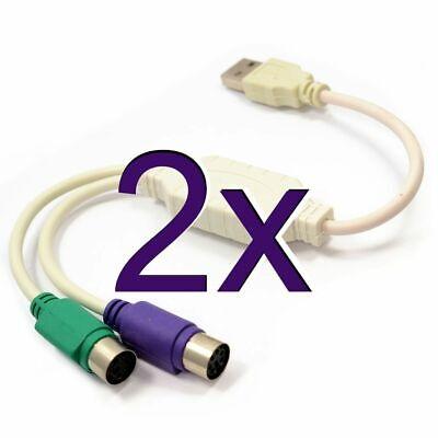 [2 Paquete] Dynamode USB A 2 PS2 Active Adaptador Teclado y Ratón...