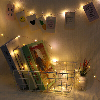 1-4X 2/5/10M LED Photo Clip Hanging String Lights for Bedroom Wall Decoration ()