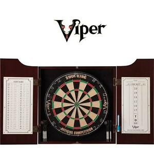 NEW VIPER HUDSON DART CENTER All-in-One - DARTBOARD - DART BOARD - SOLID PINE CABINET 108785637