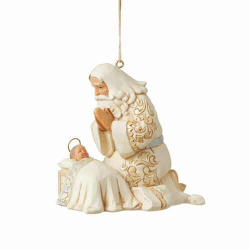 Jim Shore HOLIDAY LUSTRE SANTA WITH BABY JESUS HANGING ORNAMENT 6009400 NEW 2021