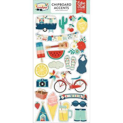 Scrapbooking Stickers Crafts Chipboard Good Day Sunshine Summer Retro - Sunshine Stickers