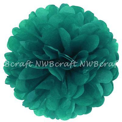 Teal Tissue Paper Pompoms Flower Balls Wedding Party Decoration ()