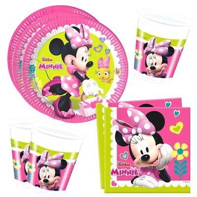 Minnie Maus - Set Party Teller Becher Servietten Partygeschirr Mouse
