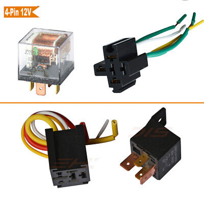 12v Heavy Duty Relay 60a 80a Spst 4pins Socket For Car Bike Boat Home Tool Us
