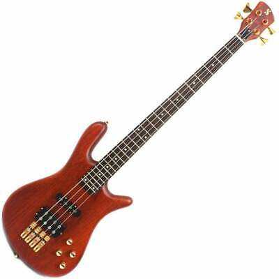 SX ELECTRIC BASS 4 STRING ARCHED BODY NATURAL SATIN FINISH POWERED PICKUPS Raw Power Satin