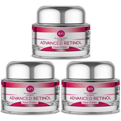 Anti Aging PURE Advanced RETINOL WRINKLE CREAM Age Defying Face Cream (3PK) Age Defying Hand Cream