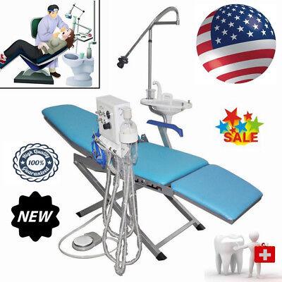 Folding Dental Portable Chair Folding Mobile Stool With Led Light Turbine Unit