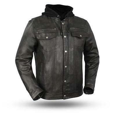 FIRST MANUFACTURING Men's leather jacket  FIM276SDTZ |  Vendetta