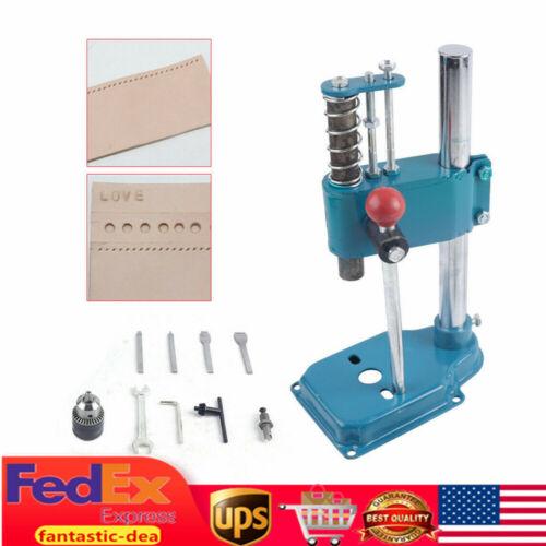 Leather Imprinting Cutting Machine DIY Hole Punches Stitching Bronzing Seal Kits