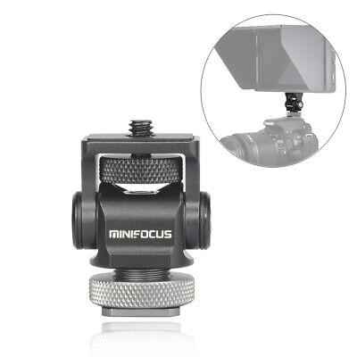 Mini Hot Shoe Stand Camera Monitor Mount 180° Tilt Arm Bracket Rotation Adapter
