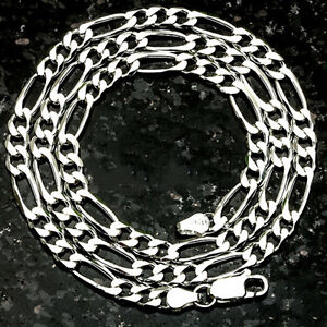 FIGARO Link Made in Italy Nickel Free SOLID .925 STERLING SILVER CHAIN FREE SHIP