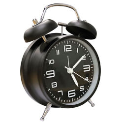 Vintage Analog Alarm Clock Bedroom Twin Bell Mute Quartz Classic Extra Loud US