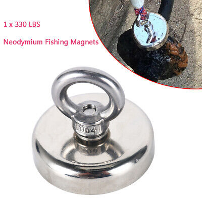 2.36 Fishing Magnet Neodymium Super Strong For Retrieving 330lbs Pull Force