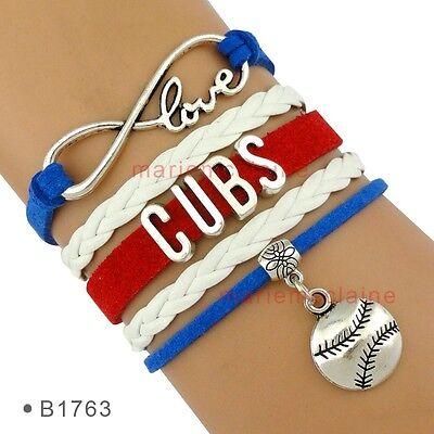Chicago Cubs Baseball Infinity Bracelet Jewelry MLB Charm Sports QUALITY - Mlb Sports Charm Bracelet