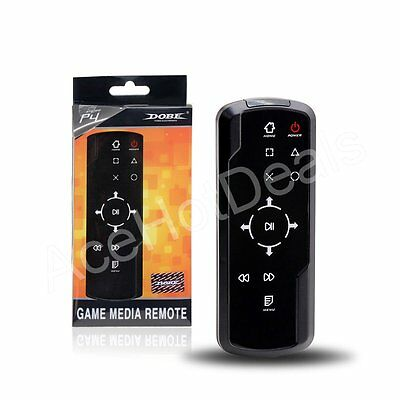 Wireless Media Remote Controller with Receiver for Sony PlayStation 4 PS4 Black