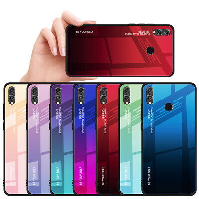 Phone Case For Huawei P30 P20 Pro Lite P Smart Gradient Glass Cover Protection