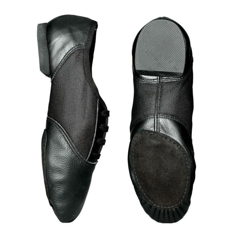 Black Split Sole Ballet Shoes