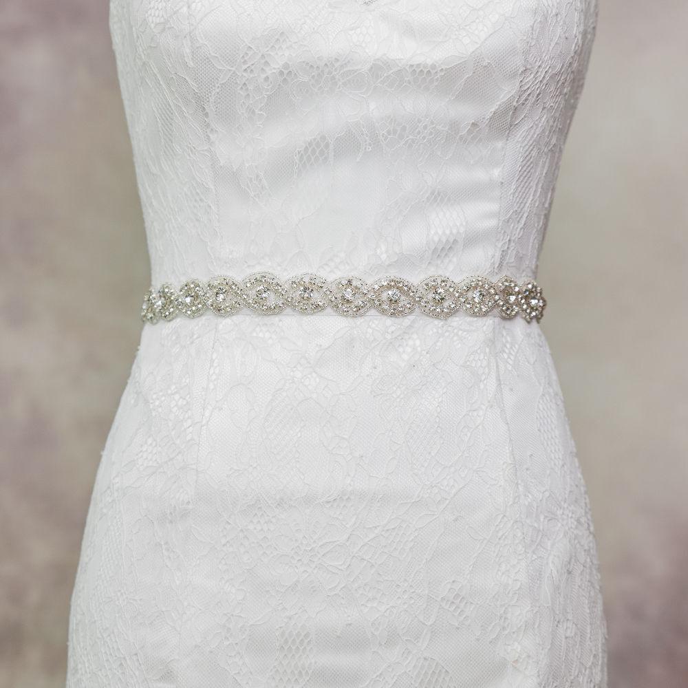 Vintage Crystal Bridal Sash Rhinestone Pearl Beaded Wedding Dress Belt Luxury