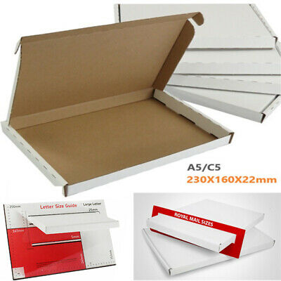 50x A5 C5 Postal Royalmail Large Letter Strong Cardboard Mailing Shipping Box WB