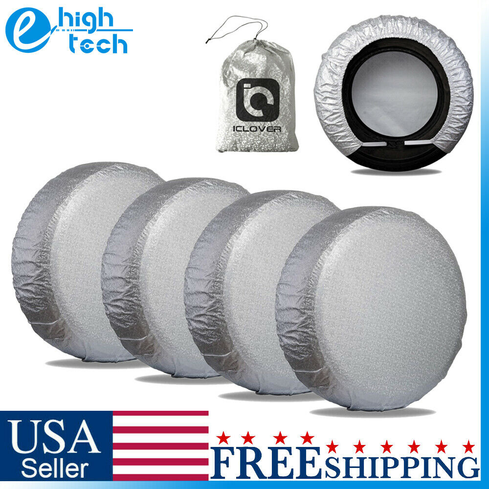 """25- 27"""" Waterproof Wheel Tire Covers Sun Protector for Truck Car RV Trailer SUV"""