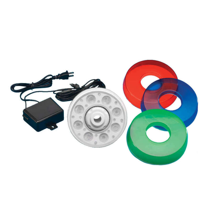 Thru-Wall LED Light for Above Ground Pools w Multi-Colors