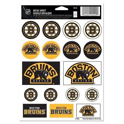 Boston Bruins Vinyl Sticker Sheet 17 Decals 5x7 Inches Free Shipping ()