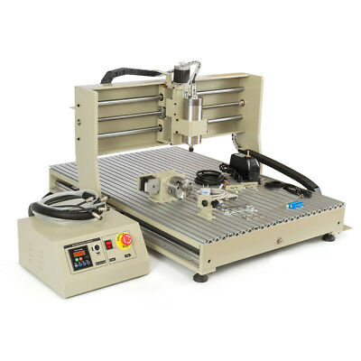 Usb 4 Axis Cutting Machine Cnc 6090 Router 1.5kw 2417 Engraving Machine Rc Us