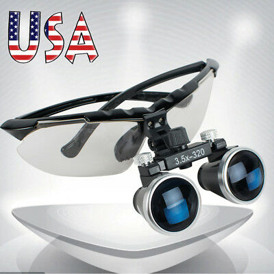 High-end Dentist Dental Surgical Medical Binocular Loupes 3.5x 320mm Ce Fda