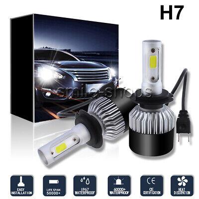 2pcs High Power 198000LM 1320W COB LED Car Headlight Kit H7 6000K White Bulbs